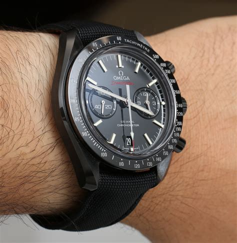 omega speedmaster co axial chronograph side of the moon black ceramic review page 2