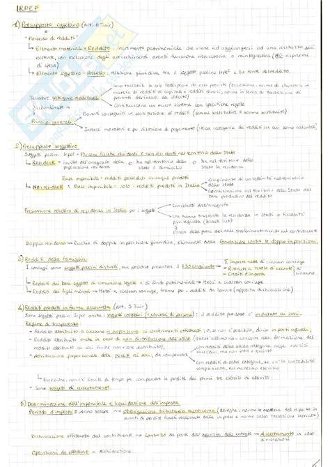 dispensa di diritto tributario irpef ires irap iva appunti di diritto tributario