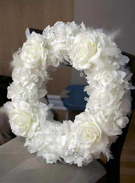 Diy Wreath White Wedding Decor Weddings And Other