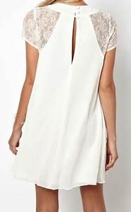 Robe Boheme Courte : robe mousseline ample dentelle epaules boho boheme chic ~ Melissatoandfro.com Idées de Décoration