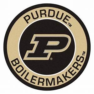"""Purdue University Boilermakers Logo Roundel Mat - 27"""""""