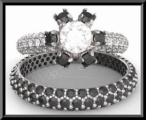 black and white diamond wedding ring set vidar jewelry With black and white diamond wedding ring sets