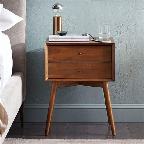 Bedside Tables by Mid Century Bedside Table Acorn West Elm Australia