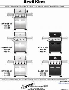 Broil King Baron S490 Grill Assembly Manual  U0026 Parts List