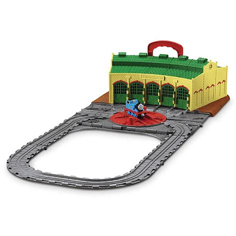 Tidmouth Sheds Wooden Roundhouse by Fisher Price And Friends Tidmouth Sheds Roundhouse