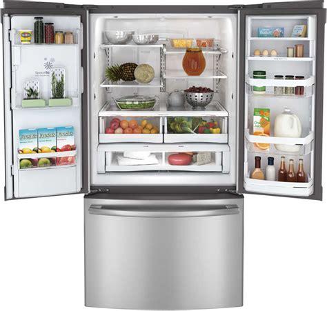 ge pfepsdss  cu ft french door refrigerator  auto fill icewater dispenser spillproof