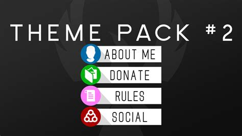 twitch info panel templates free twitch panel theme packs on behance