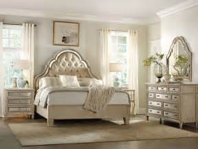 Oak Dresser Mirror by Hooker Furniture Bedroom Sanctuary King Tufted Bed Pearl