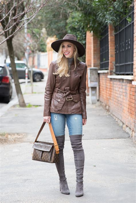 neutral textures panama hat leather jacket suede boots meagans moda