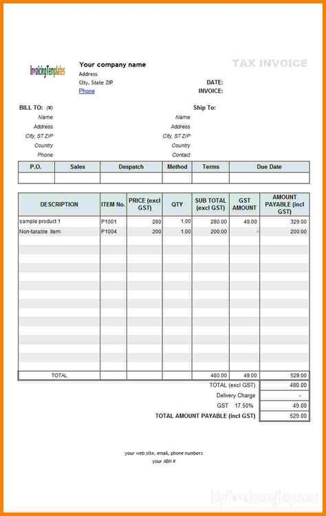 printing bill format  excel sample travel bill
