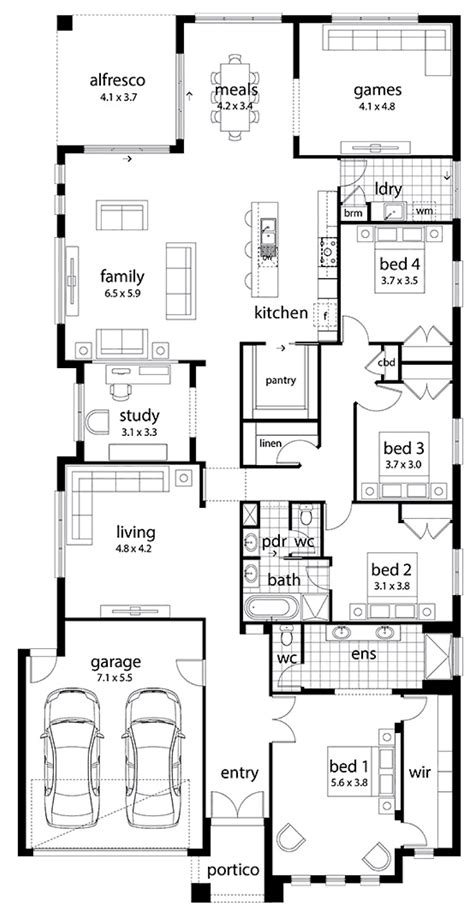 family home floor plans floor plan friday large family home