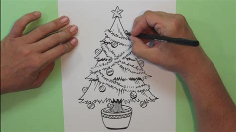 c 243 mo dibujar un 225 rbol de navidad how to draw christmas