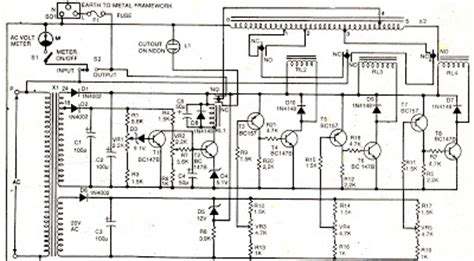 Electronics Projects Mains Voltage Stabilizer Circuit