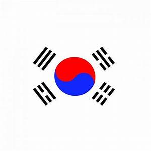 H11157 South Korea Flag Cardboard Cutout Standup