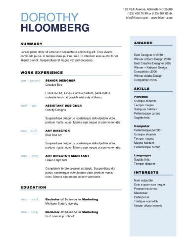How To Right A Cv Template by Professional Looking Resume Resume Ideas