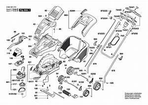 Bosch Rotak 43  Ergoflex   3600h81370  Lawnmower Diagram 1