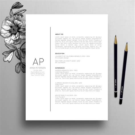 creative resume cover letter templates 25 best cover letter design ideas on creative cv layout cv and creative cv template
