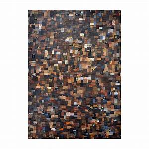 Tapis Cuir Patchwork : nomade tapis patchwork 100 peaux cuir couleurs ~ Teatrodelosmanantiales.com Idées de Décoration