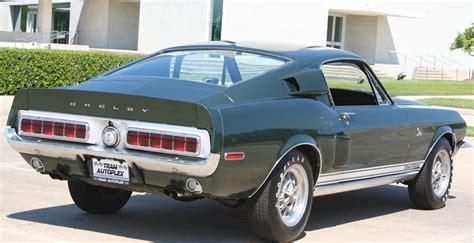 dark green  ford mustang shelby gt kr fastback