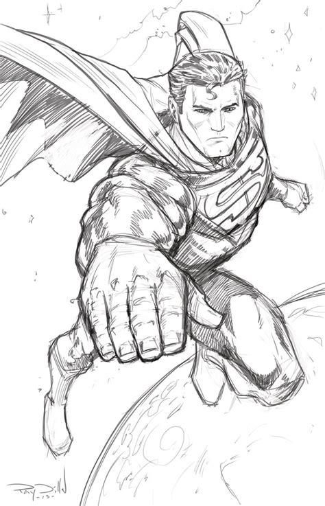 ray dillon sketches superman  man  steel sketch