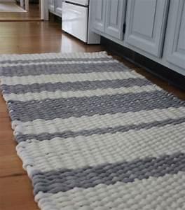 Tapis En Corde : 3 tutos pour tisser un tapis en tissu blog de petit citron blog de petit citron ~ Teatrodelosmanantiales.com Idées de Décoration