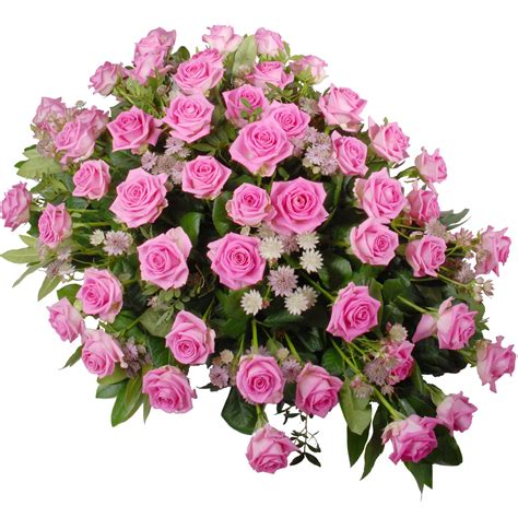 Rouwstuk roze rozen Bezorgen