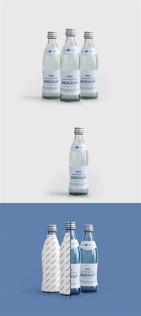 Choose from 30+ bottle mockup graphic resources and download in the form of png, eps, ai or psd. Free Water Bottles Mockup | Mockuptree