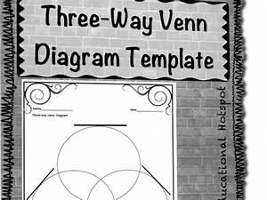 Three Way Venn Diagram Graphic Organizer Template