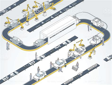 Auto Assembly Line Illustration Stock Vector Art & More