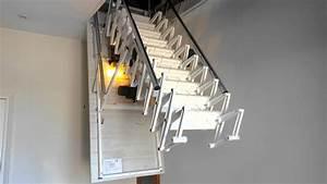 Echelle Escamotable Telescopique : escalier escamotable motoris de grenier youtube ~ Edinachiropracticcenter.com Idées de Décoration