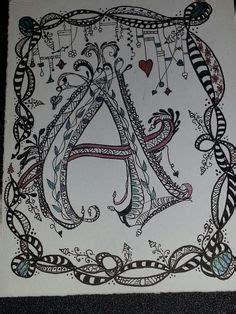 zenspirations monogram inspired  joanne fink zentangle patterns doodle art letters