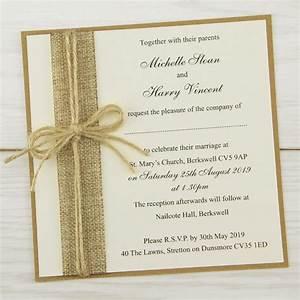 rustic burlap layered square pure invitation wedding invites With order rustic wedding invitations online