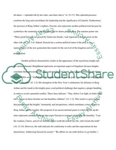 Gawain Essay by Sir Gawain And The Green Essay Exle Topics And