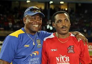 Desmond Haynes And Gordon Greenidge Follow The Action