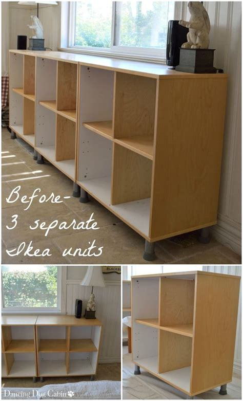 before after transforming an ikea bookcase ikea