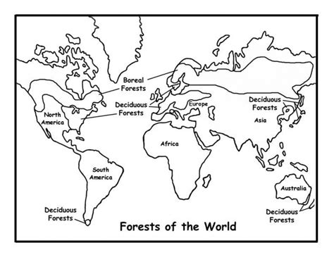 kids printable world map coloring pages
