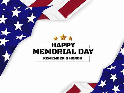 Memorial Background Flag Usa Happy Vector Clipart