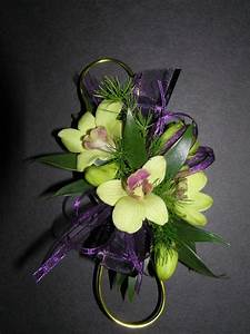 Wrist Corsage - 3 Dendrobium Orchids - Also available in ...