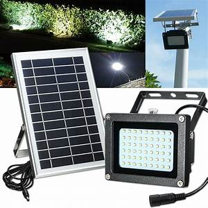 Solar powered led waterproof outdoor security panel