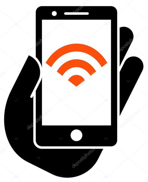 wi fi phone smartphone avec ic 244 ne wifi image vectorielle 63794229