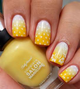 Vibrant yellow nail designs for summer hairstyles
