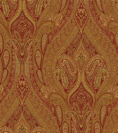 Upholstery Material by Upholstery Fabric Waverly Karaj Paisley Spice Jo