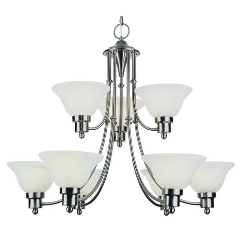 bel air lighting stewart 9 light brushed nickel
