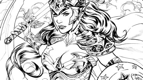 Free Wonder Woman Coloring Pages