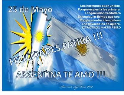 Mayo Argentina Frases Anamar Patria Dia Mensajes