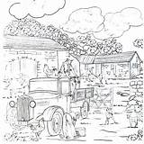 Coloring Farm Pages Country Printable Colouring Living Working Busy Sheets Drawings Adult Printables Always Landscaping sketch template