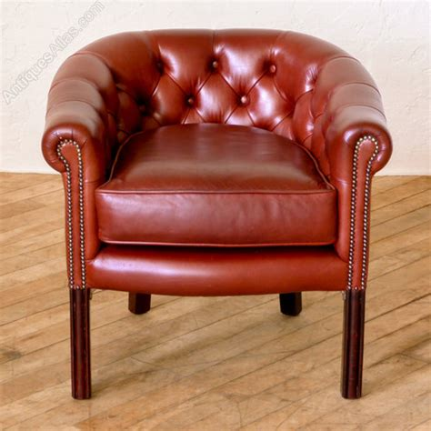 vintage tub chairs antiques atlas leather tub chair 3262