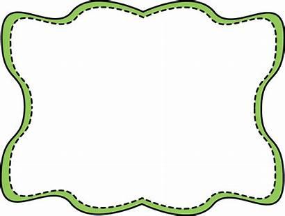 Frame Wavy Stitched Frames Border Clip Stiched