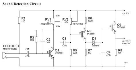 Sound Detection Circuit Diagram Electrical Concepts