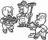 Pigs Coloring Pages Printable Clipart Three Preschoolers Wolf Practice Colouring Pig Story Farmers Template Wecoloringpage Characters Bad Worksheets Worksheet Cartoon sketch template